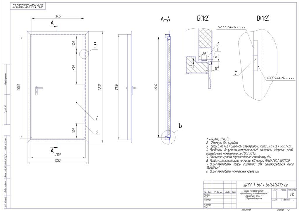 Производство противопожарных металлических дверей