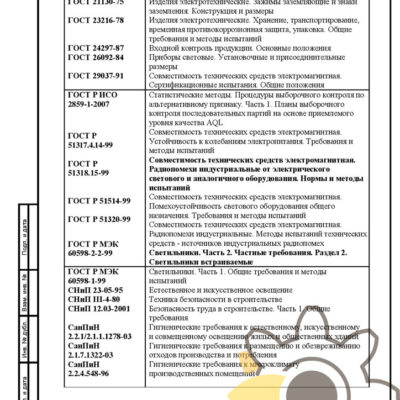 Технические условия на светодиодные прожекторы стр.31