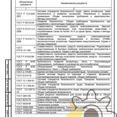 Технические условия на лазерный тир стр.16