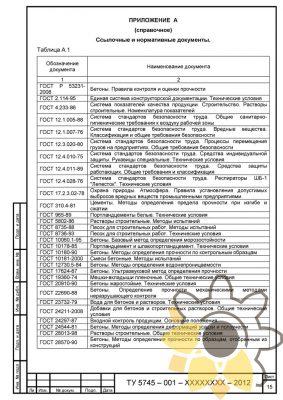 Технические условия на смеси бетонные мелкозернистые стр. 15
