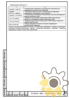 Технические условия на мыло парфюмерное и косметическое стр.25