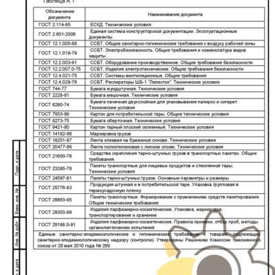 Технические условия на косметические средства стр. 18